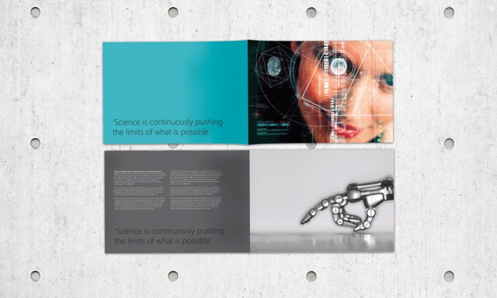 Microsoft research booklet design